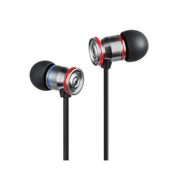 Betron MK23Mic Earbuds with Microphone, Noise Isolating Earphone, Flat Cable, Replaceable Earbuds, in Ear Headphones for iPhone, iPad, MP3 Players, Samsung, Android Devices and More 5