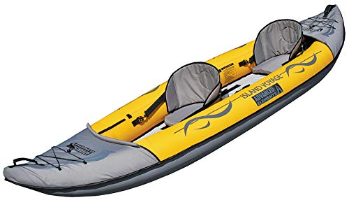 Advanced Elements Island Voyager 2-Person Kayak, Inflatable Unisex Adulto, Yellow, Taglia Unica