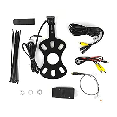 Brandmotion 9002-8857V2 Rear Vision System with CMOS Infrared Camera and Adjustable Bracket for 2007-2018 Jeep Wrangler JK with Factory Display