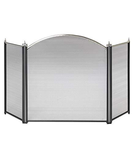 Maurer 22020560 - Pantalla chimenea latón, 61x107cm, color negro