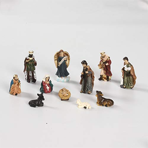 Elegant Profile Nativity Set, Includes Holy Family Resin Decorative Figures, Collection, Durable, Long Lasting Christmas Ornaments Decoration