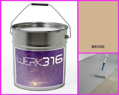 6,75€/l - 20L Bodenbeschichtung Betonfarbe Bodenfarbe Bodenversiegelung Garagenfarbe Beige