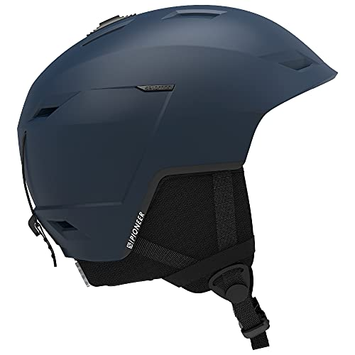 Salomon Męski kask narciarski i snowboardowy, regulowany krój, rozmiar S, obwód głowy 53-56 cm, PIONEER LT, sukienka niebieska, L41159100