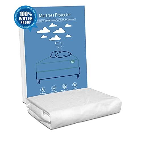 Protector de colchón 135x180x35 cm,Impermeable, Resistente y Transpirable. Fácil de Lavar. Ajustable