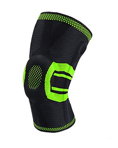 Rodillera Deportiva Manga de Compresión de Rodilla Soporte Rodilleras Meniscos Ligamentos Proteger para Crossfit Correr Bicicleta Baloncesto (1 Pieza)
