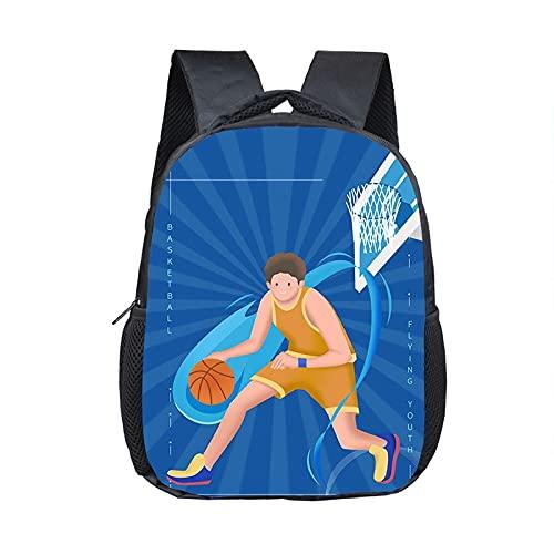 daweiwei Mochila con estampado de baloncesto / fútbol para niños de años, mochilas escolares para niños, mini bolsa para niños pequeños, bolsa de jardín de infantes, 30 * 24 * 10 cm 22