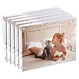 CECOLIC Marco de acrílico transparente, marcos de fotos magnéticos, 10 + 10 mm de grosor, soporte...