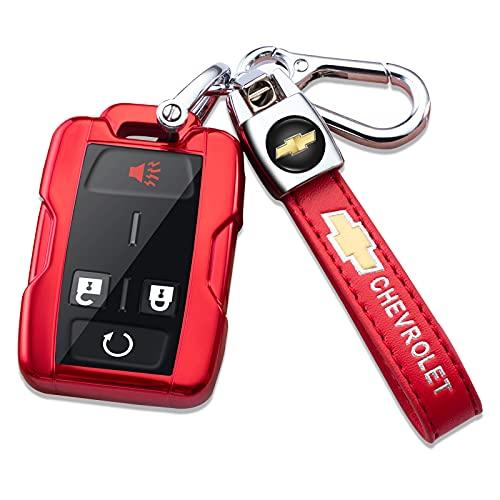 Smart Key Fob Cover Case for 2014-2018 Chevy Silverado Colorado 2015-2021 Colorado Smart remote...