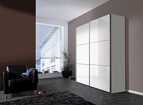 Express Möbel Schwebetürenschrank 2-türig Bianco Weiß Hochglanz BxHxT 200x216x68 in verschiedenen Farben und Größen