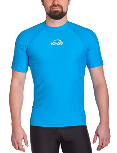 iQ-UV Herren UV 300  Slim Fit Kurzarm T-Shirt, türkis (hawaii), XL (54)
