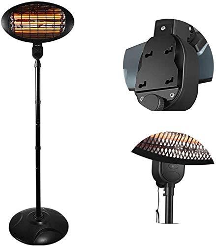 YANJ Radiantes Calentador de Cuarzo terrazas, Calentador Calor infrarrojo 1500W, 3 Niveles de calefacción, Ajustable en Altura, for Balcón Terraza G
