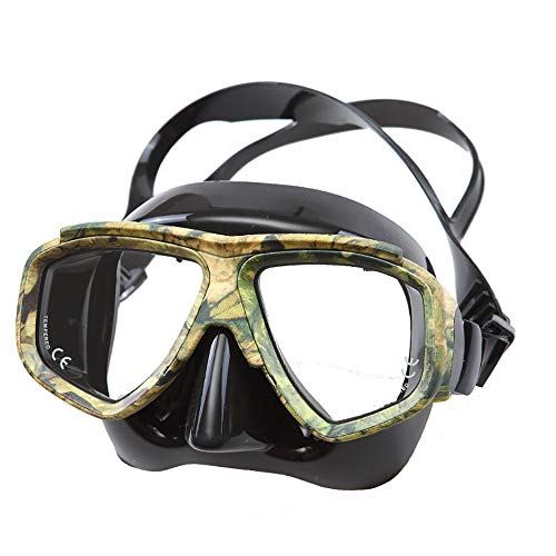 Traje de máscara Paquetes de snorkel de duradero anti-niebla gafas de buceo, vista panorámica de ancho Snorkel Goggle for adultos y niños Adecuado para snorkeling ( Color : Black , Size : One size )