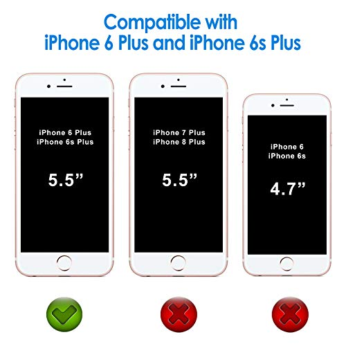 JETech Case Compatible with iPhone 6 Plus and iPhone 6s Plus 5.5-Inch, Shock-Absorption Bumper Cover, Anti-Scratch Clear Back (HD Clear)