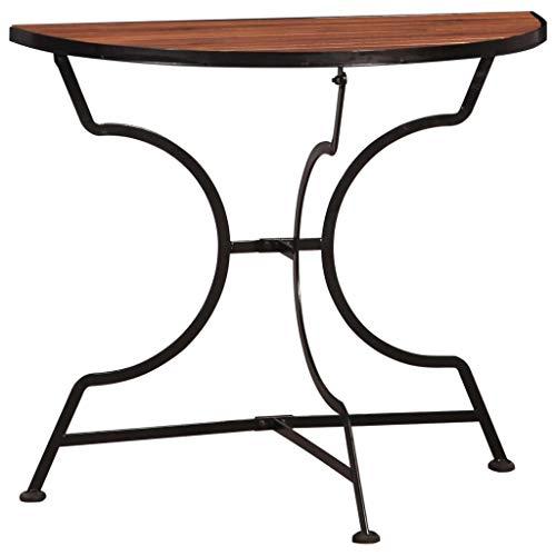 Festnight- Bartisch Bistrotisch Stehtisch Gartentisch | Wasserfest | Tischplatte aus Holz | Balkontisch Partytisch Terrassentisch 85 x 43 x 75 cm Akazie Massivholz