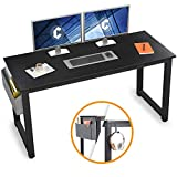 Cubiker Computer Desk 55' Modern Sturdy Office Desk Large Writing Study Table for Home Office with Extra Strong Legs, Black