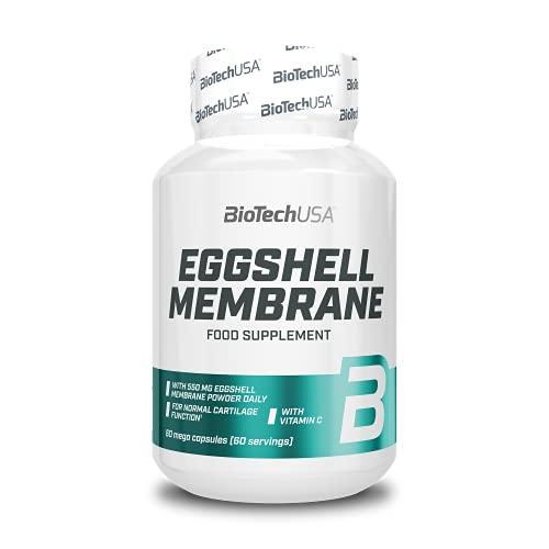 BioTechUSA Eggshell membrane, Cápsulas con membrana de cáscara de huevo molida y vitamina C, 60 cápsulas