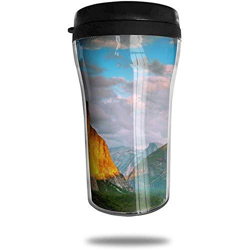 Kleurrijke Berg In de buurt van bomen Reizen Koffie Mok Gedrukt Draagbare Vacuüm Beker, Geïsoleerde Thee Cup Water Fles Tumblers voor Drinken