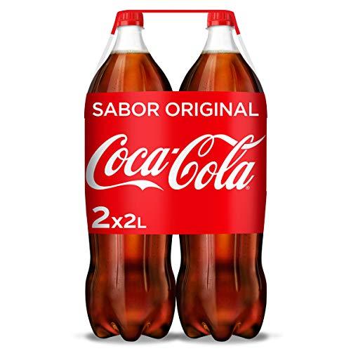 Coca-Cola Sabor Original - Refresco de cola - Pack 2 botellas 2L