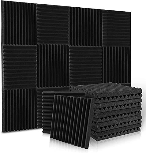 Aislante Acustico Espuma Acustica Paneles Acusticos, Insonorizacion Acustica Pared Para Podcasting, Estudios de Grabación, Oficinas (36 Piezas)