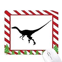 恐竜の骨を実行するミニチュア ゴムクリスマスキャンディマウスパッド
