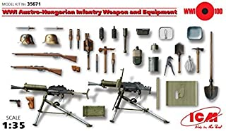 ICM 1/35 Scale WWI Austro-Hungarian Infantry Weapon and Equipment - WWI Australian Army Figures Model Building Kit #35671