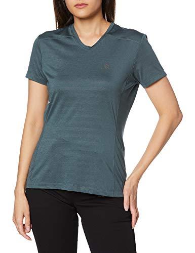 SALOMON XA tee Camiseta, Mujer, Balsam Green/Heather, XS