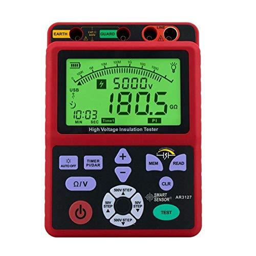 IGOSAIT Pantalla Digital Digital de Alta Tensión Resistencia de Aislamiento 5000V Tester Shake Tabla Mesa Electrónica 0.0-99.9G ohmios AR3127