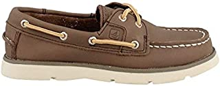 Sperry Top-Sider Kids Boy's Leeward (Little Kid/Big Kid) Dark Brown Boat Shoe 7 Big Kid M