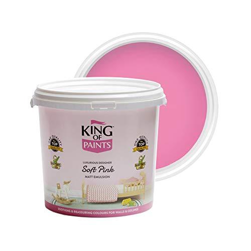 Pintura rosa mate Emulsión 5 litros rey de las pinturas no gotean más bajo voc rey de las pinturas
