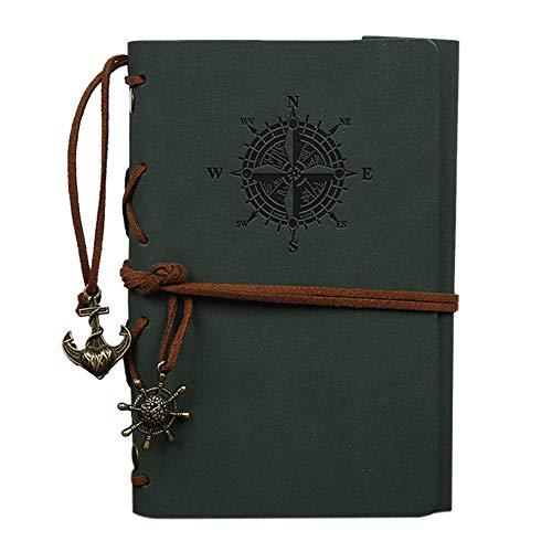 1 x Skizzenbuch, Retro-Schiff, Pirata, PU-Leder, 160 Seiten, 8,2 x 12,9 cm.