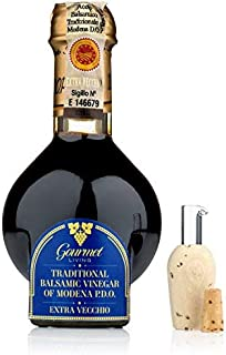 Traditional Balsamic Vinegar DOP 25 Years   100 ml Barrel-aged PDO Certified Extravecchio Balsamico from Modena, Italy