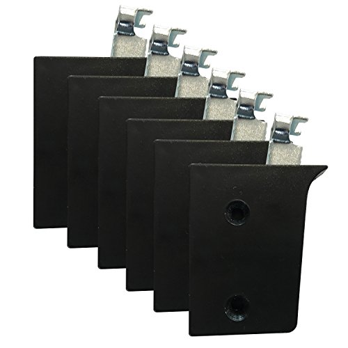 Dekati 6X Schrankträger/Schrankaufhänger/Schrankhalterung/Wandhalterung/Aufhängung für Möbel und Schränke schwarz Tragkraft 50kg pro Halter