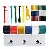 THUN-CT 0.3mm² 22AWG Cable eléctrico de silicona (6 colores diferentes de 15,3 metros de longitud cada uno) cable de cobre estañado 22AWG Cable electrónico de conexión Para el DIY