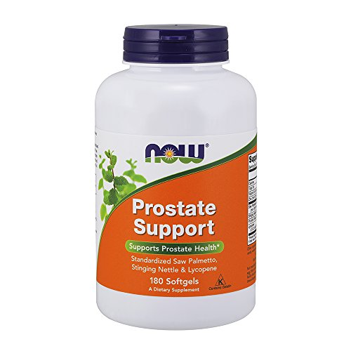 NOW Supplements, Prostate Support, Prostate Support, with Standardized Saw Palmetto, Stinging Nettle & Lycopene, 180 Softgels