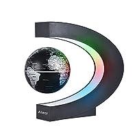 🌍【Magnetschwebetechnologie】- Der Globus kann in der Luft um 360 ° schweben und sich drehen und funktioniert reibungslos und gleichmäßig. 🌍【Desktop Dekoration】- Kreatives Design in C-Form, ABS Material, leicht und langlebig, eine großartige Desktop De...