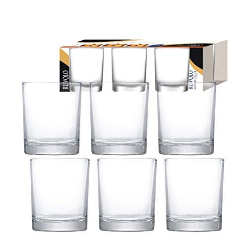 Copo de Whisky Prestige On The Rocks Vidro 335ml 6 Peças, Ruvolo