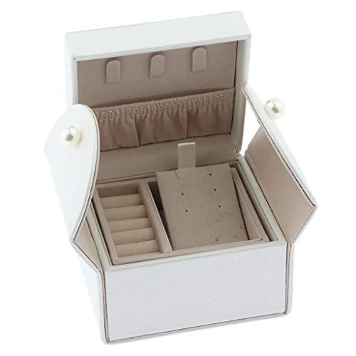 Mini Joyero con 2 Cajón Caja de Joyas DIY Estuche de Viaje
