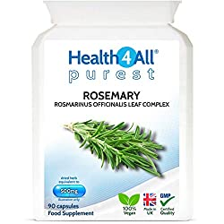 Rosemary 500mg 90 Capsules (V) | Memory, Focus, Learning | 100% Natural Vegan NOOTROPIC | Free UK Delivery