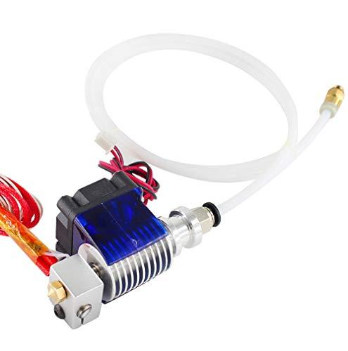 BGGPX Stampante 3D / Adatta per Il Kit estrusore E3D V6 ESTRUDER 0.4/1.75MM J-Head Extruder remoto 12V 24V con Tubo della Ventola di Raffreddamento (Size : with Terminal)
