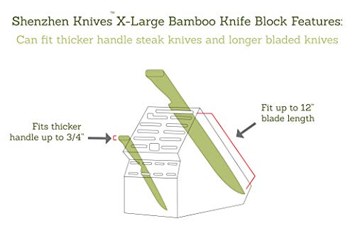 Bamboo Wood Knife Block
