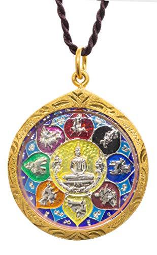 Phra LP Sothorn Buddha Zodiac Golden Thai Amulet Pendant