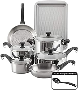 Farberware Classic Traditions Stainless Steel 12-Piece Cookware Set