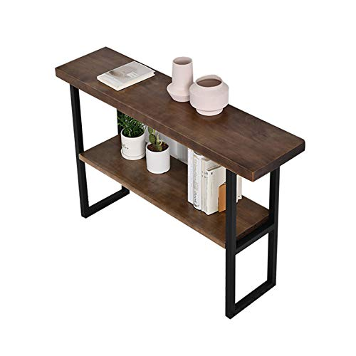 Console Tables For Hallway Slim, Rectangle Wood Coffee Table Home Bar Bar Table Stable Durable Console Tables 80-140CM(Size:140 * 30 * 85CM)