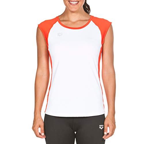 Inconnu Ares5 Arena T-Shirt Technique pour Femme M White-Geranium Red