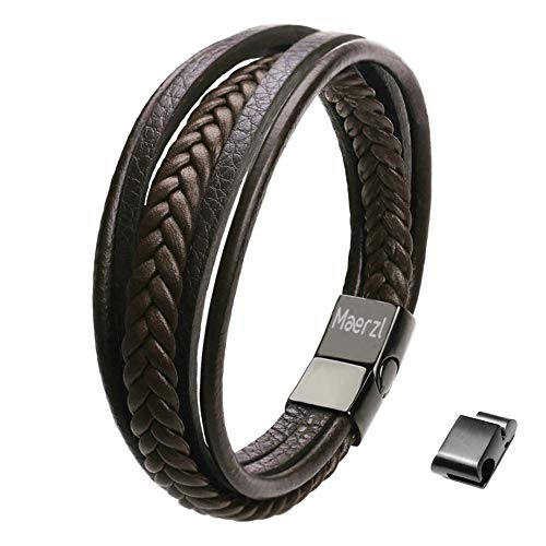 8.7inches brown mens bracelet bracelet for men leather bracelet for men leather bracelet