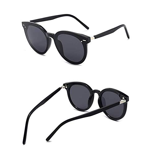 WOXING Tendencia Gafas De Sol,Moda Aire Libre Deportes Viajes Conducir Gafas,Moda Ligeras Antideslumbrantes Gafas,Hombre Mujer Gafas-Negro 14.9x5.6cm(6x2inch)