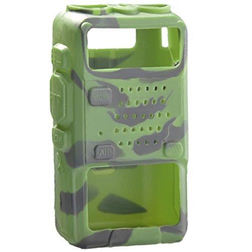 OSHIDE Silikon Schutzhülle für Funkgerät UV-5R/Plus UV-5RA GT-3 Gummihülle,Soft Case,Silikage schwarz rot Camouflage