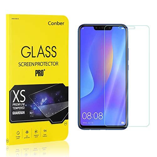 [4 Stück] Conber Panzerglas Schutzfolie für Huawei P Smart Plus 2018 / Huawei Nova 3I, [9H Härte][Anti-Kratzen] Panzerglasfolie Displayschutz für Huawei P Smart Plus 2018 / Huawei Nova 3I