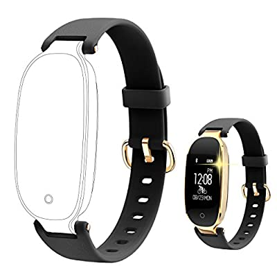 Fitness Tracker, Women Sport Tracker Smart Watch Band Bracelet with Heart Rate Monitor, Calorie Counter, Waterproof Wristband Watch with Sleep Activity Tracker Pedometer