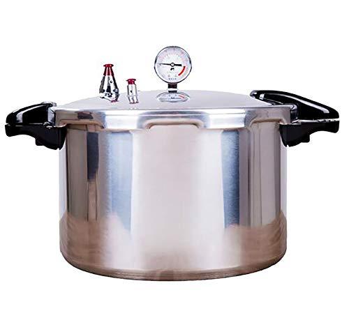 YWSJGH Druckbehälter mit Manometer mit hohen Kapazität Slow Cooker, Fast Gewerbe große Kapazitäts-Herd Druck Canner, for Restaurant, Küche, Familienfeste, 15L / 22L (Color : Silver, Size : 22L)